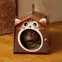 diy cardboard cat house 70 cool cardboard craft ideas hative