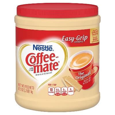 Coffee Mate Coffee Creamer, The Original: Calories, Nutrition Analysis & More   Foodfacts.com