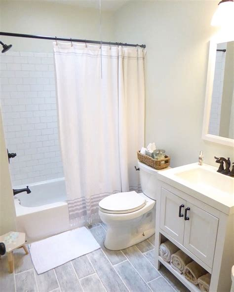 small bathroom remodel clean  bright grey floors