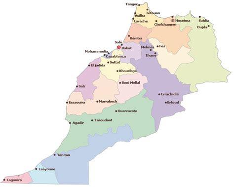 Carte Du Maroc Avec Les Principales Villes by Maroc Carte Villes