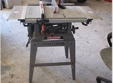 Craftsman 27 table saw eSpotted