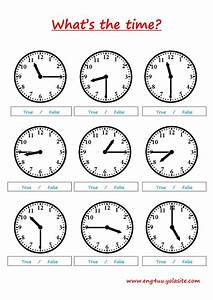 What U0026 39 S The Time   Telling The Time Online Worksheet