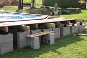piscine hors sol bois semi enterr recherche google With terrasse piscine semi enterree 3 comment amenager les alentours de sa piscine semi enterree