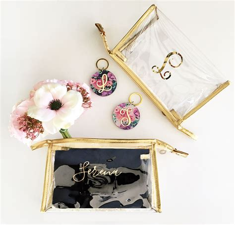 personalized clear cosmetic bags