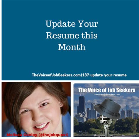 update your resume this month the voice of seekers