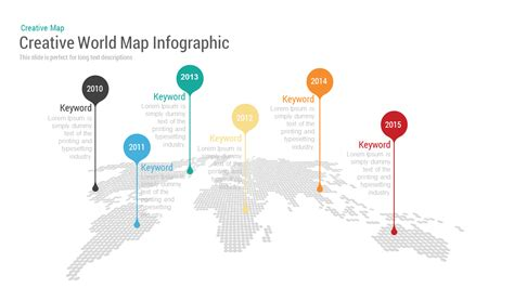 powerpoint map templates creative world map with bubbles powerpoint keynote