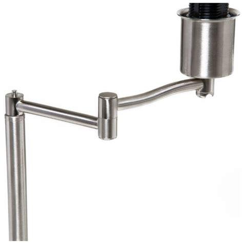 boston harbor swing arm adjustable table l brushed nickel
