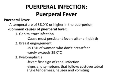 child bed fever obstetrics puerperal infection