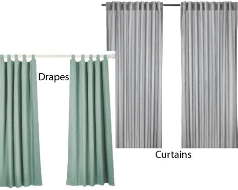 drapes or curtains difference drapes vs curtains homeverity