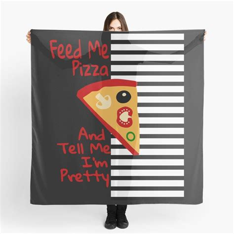 'Funny Pizza Lover Tees' Scarf by Bettylop in 2020 | Pizza ...