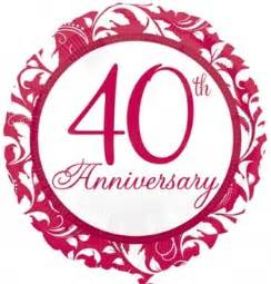 40 year wedding anniversary ruby wedding anniversary foil balloons 40 years together helium balloons