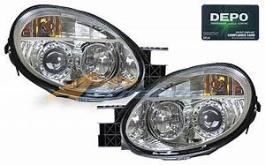 Dodge Neon 2003 2005 Depo Clear Projector Headlights