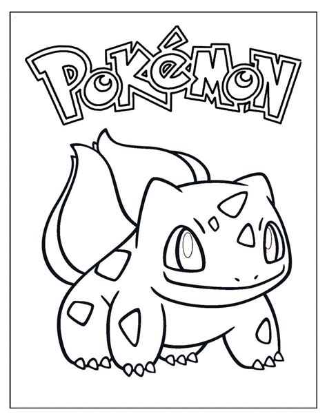 bulbasaur coloring sheet coloring pages printable