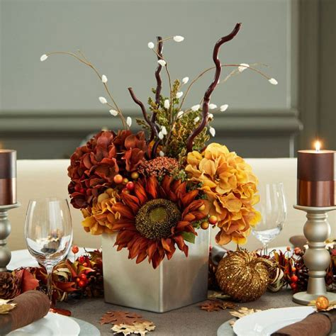 fall table decorations easy make your thanksgiving tablescape complete with a gorgeous diy fall floral centerpiece filled