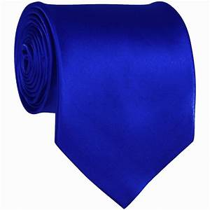 Royal Blue Solid Color Ties Mens Neckties | Groom and ...