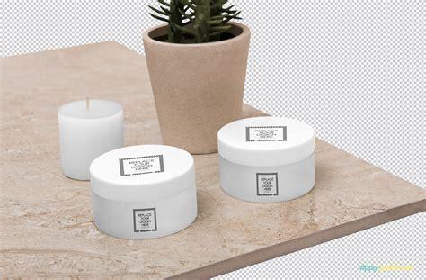 Psd file consists of smart objects. Free Amazing Cosmetic Jar Mockup | ZippyPixels