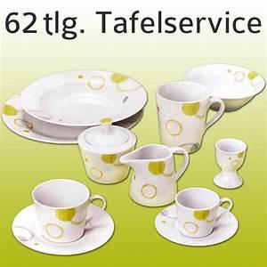 Tafelservice Modernes Design : modernes kombiservice essgeschirr porzellan 62 tlg ~ Michelbontemps.com Haus und Dekorationen
