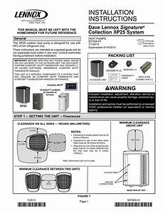 Installation Instructions Signature Collection Xp25 System