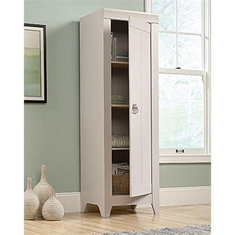narrow kitchen pantry cabinet sauder adept cobblestone storage cabinet 418085 the home 3437