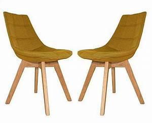 Chaise Scandinave Jaune : chaise scandinave beti jaune ~ Teatrodelosmanantiales.com Idées de Décoration