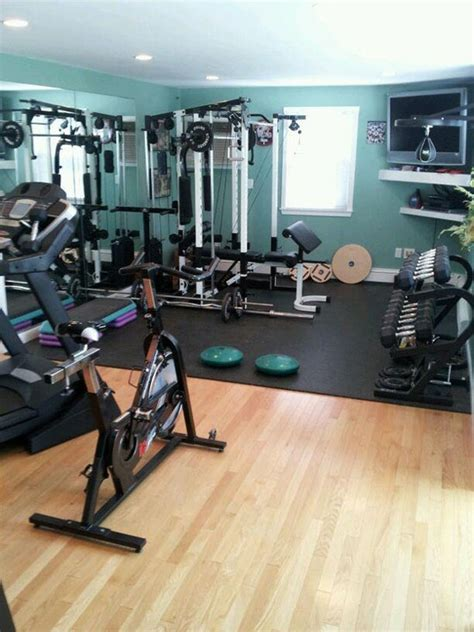 58 Well Equipped Home Gym Design Ideas  Digsdigs. Yellow Front Door. Tropical Bedspreads. Room Partitions. Kitchen Range Hoods