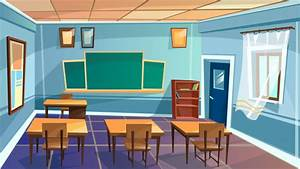 Cartoon empty elementary high school, college, university ...