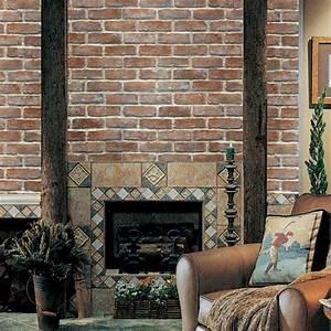 White Light Brown Brick Self Adhesive Wallpapers ...