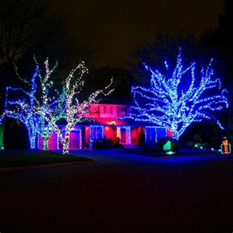 images of automated christmas lights best christmas tree