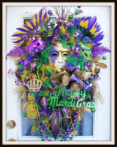 mardi gras wreath fat tuesday wreath door by