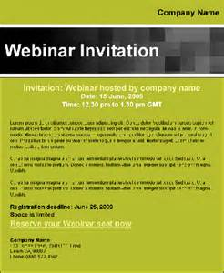Webinar Email Invitation Template