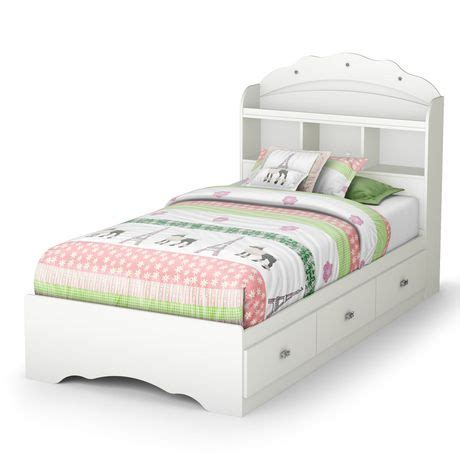 Walmart Queen Headboard And Footboard by South Shore Lit Matelot Collection Tiara Simple Blanc