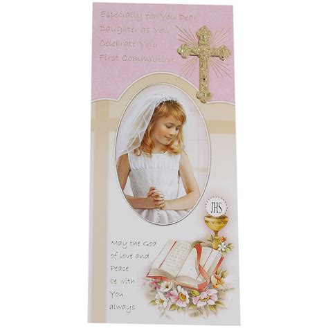 daughter  holy communion card cachet kids