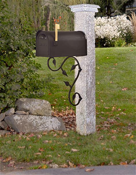 granite mailbox post wood cap westwood mills