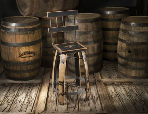 whiskey wood bar stool high  heritage handcrafted