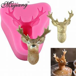 3D Stag's Head Silicone Molds Soap Candle Mold Christmas