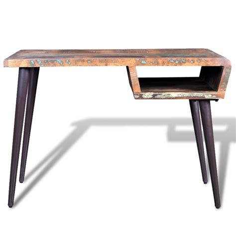 bureau en acier la boutique en ligne bureau en bois recyclé avec pieds en