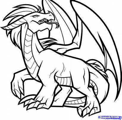 Dragon Outline Drawings Drawing Simple Draw Line