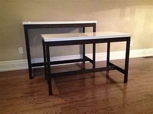 Bar Table And Desk Using IKEA Table Tops VIKA AMON