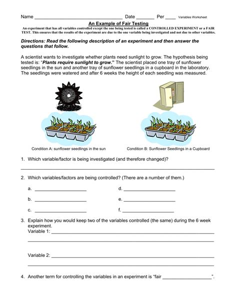 fundamentals of experimental design answers controlled experiment worksheet wiildcreative