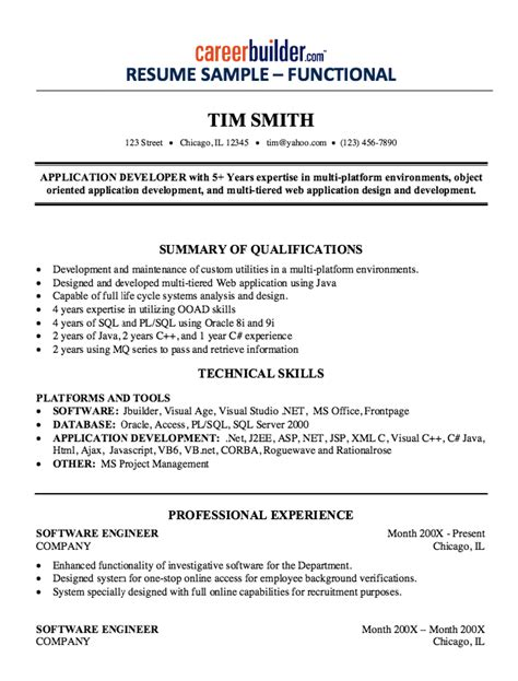 Resume Template For Experienced Software Engineer by Experienced Software Engineer Resume Sle Free Resume
