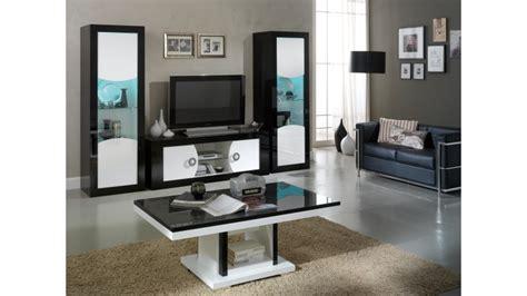 armoire basse de bureau meuble tv moderne 2 portes noir et blanc nevis gdegdesign