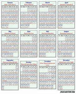 The Islamic Lunar Calendar, Muslim Calendar or Hijri