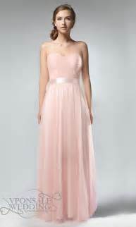 bridesmaid dresses pink strapless sweetheart neckline pastel pink tulle bridesmaid dress dvw0191 vponsale