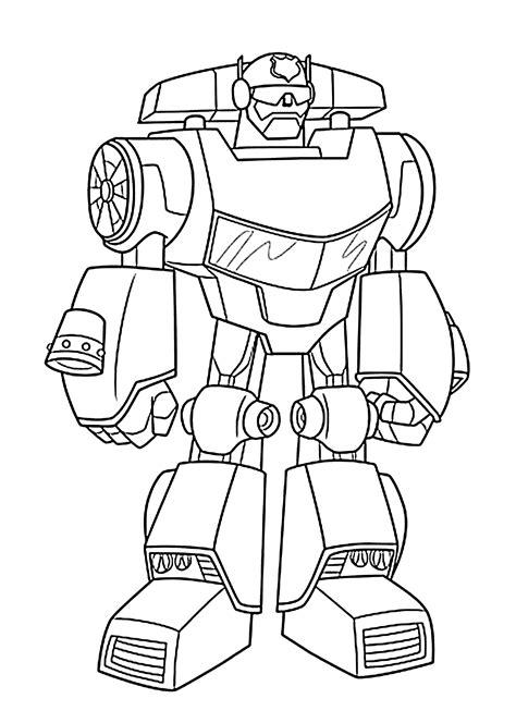 Rescue Bots Kleurplaat by Bot Coloring Pages For Printable Free Rescue