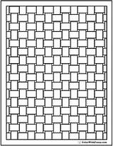 Coloring Pages Pattern Square Pdf Printable Basket Adult Weave Flower Adults Printables Cool Patterns Weaving Colouring Geometric 8mm Reeded Grille sketch template