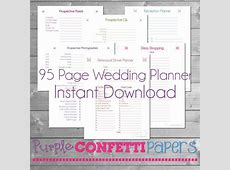 7 Best Images of Printable Wedding Planning Tools