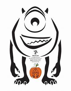 Best 25 mike wazowski pumpkin ideas on pinterest mike for Sully pumpkin template