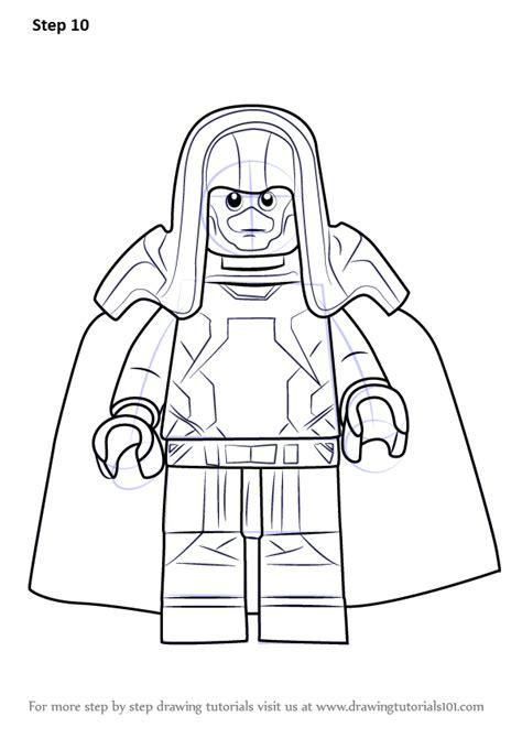 learn   draw lego ronan  accuser lego step