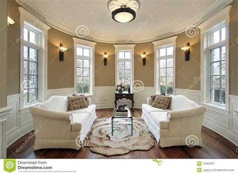 living room with lighting scones royalty free stock