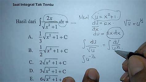 contoh soal integral tentu  tak tentu soal revisi